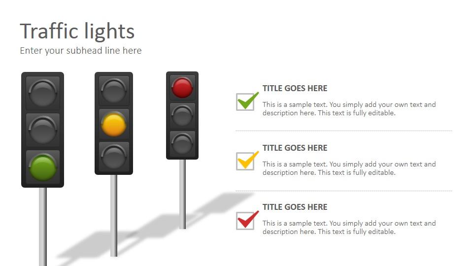 Dashboards Traffic Lights Diagrams Google Slides Presentation Template