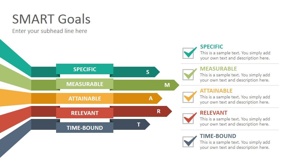 smart goals diagrams powerpoint presentation template. Black Bedroom Furniture Sets. Home Design Ideas