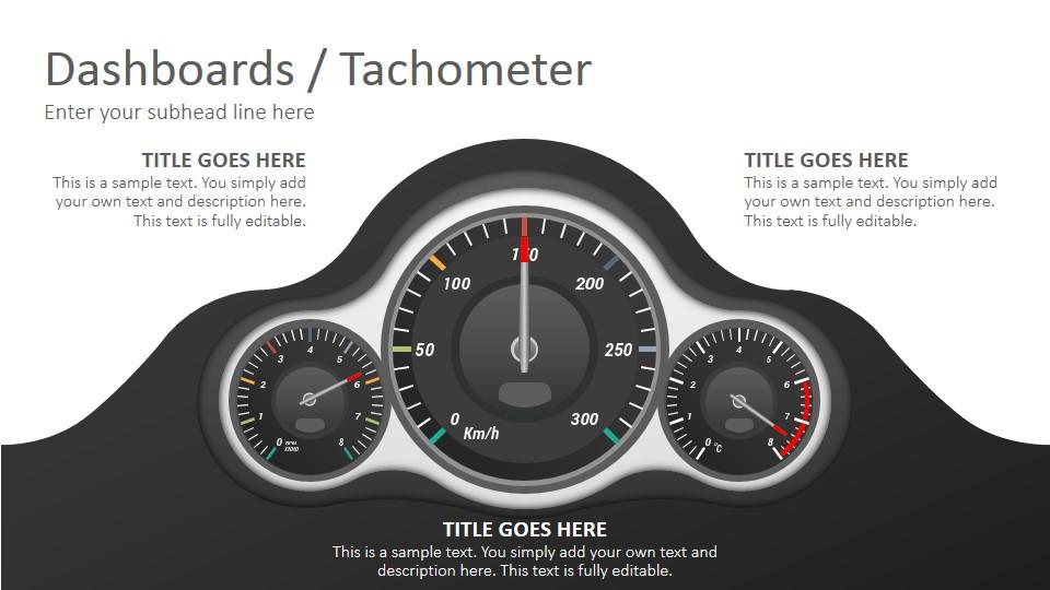 Dashboards Tachometer Diagrams Powerpoint Presentation