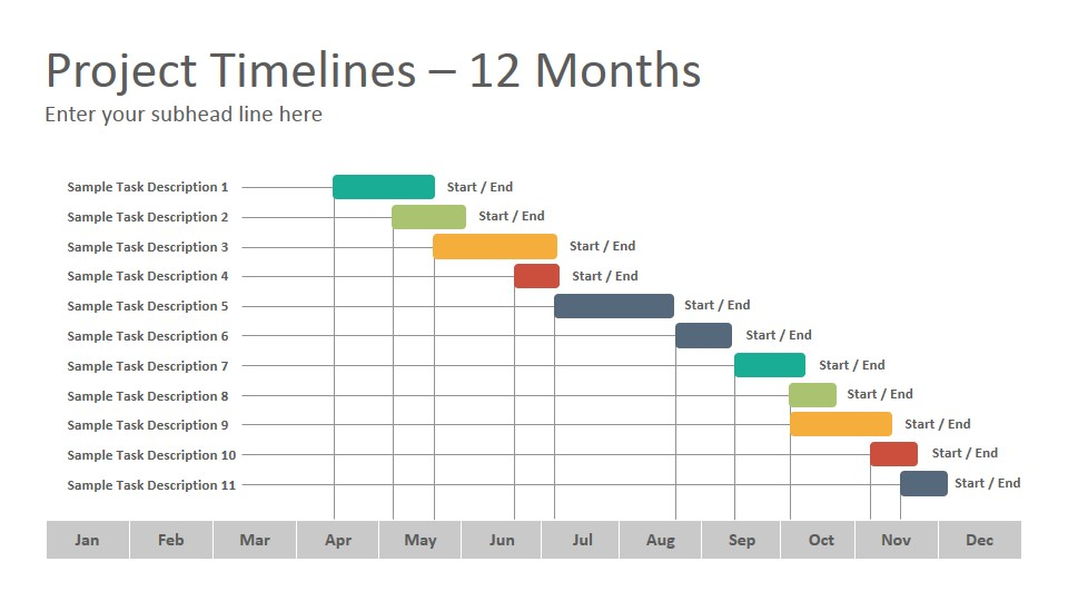 Project Timelines Diagrams Google Slides Presentation Template