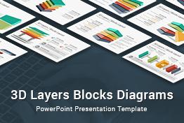 3D Layers Blocks Diagrams PowerPoint Presentation Template