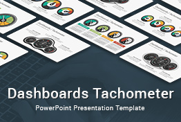 Dashboards Tachometer Diagrams PowerPoint Presentation Template