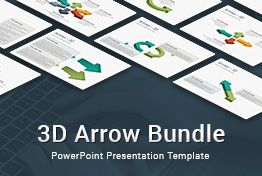 3D Arrow Bundle PowerPoint Presentation Template
