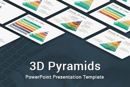 3D Pyramids PowerPoint Presentation Template