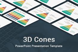 3D Cones PowerPoint Presentation Template