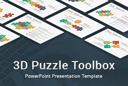 3D Puzzle Toolbox PowerPoint Presentation Templatev
