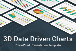 3D Data Driven Charts Diagrams PowerPoint Presentation Template