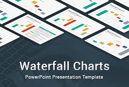 Waterfall Charts Diagrams PowerPoint Presentation Template