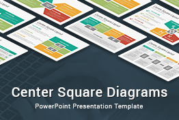 Center Square Diagrams PowerPoint Presentation Template