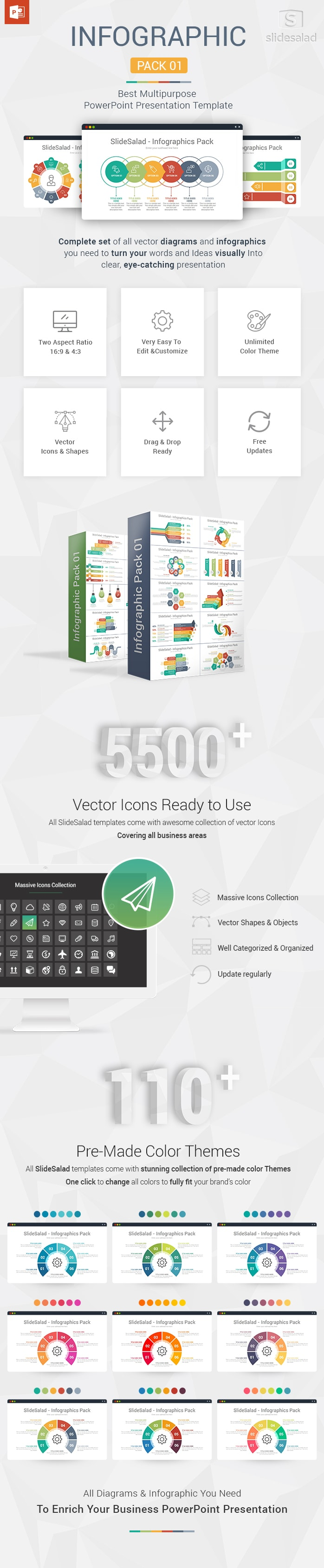 Infographic Designs Pack 01 Powerpoint Template For
