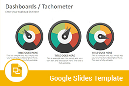 Dashboards Tachometer Diagrams Google Slides Presentation Template