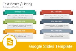 Text Boxes Diagrams Google Slides Presentation Template