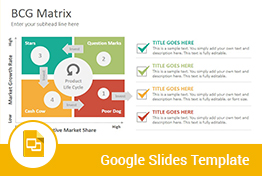 BCG Matrix Diagrams Google Slides Presentation Template
