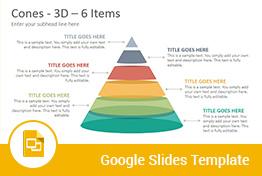 3D Cones Google Slides Presentation Template