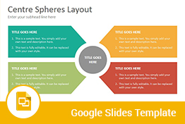 Center Spheres Diagrams Google Slides Presentation Template