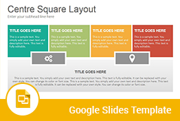 Center Square Diagrams Google Slides Presentation Template
