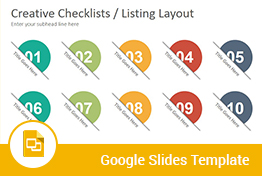 Checklists Diagrams Google Slides Presentation Template