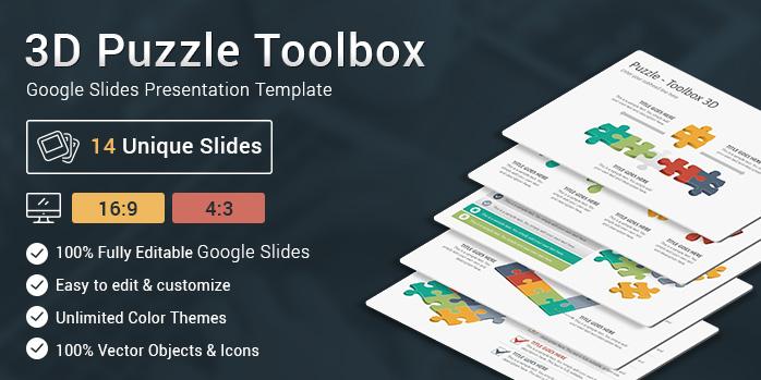 3D Puzzle Toolbox Google Slides Presentation Template