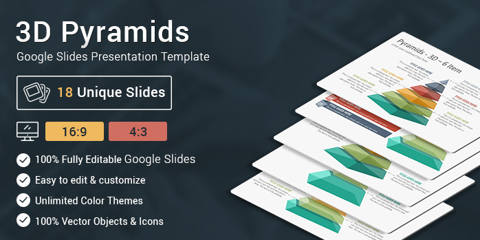 3D Pyramids Google Slides Presentation Template