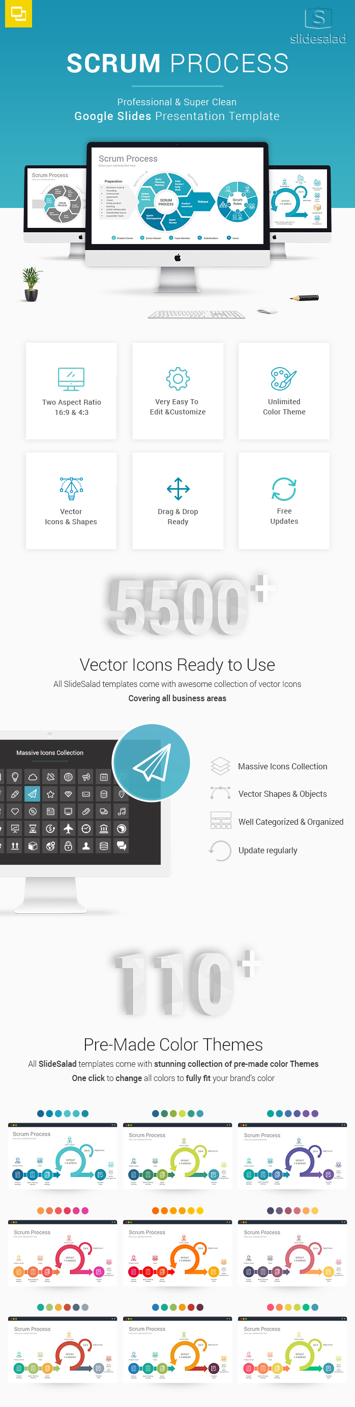 Scrum Process Google Slides Presentation Template