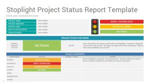 Project Report Template | Project Status Report Google Slides Template Design Slidesalad
