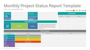 Project Status Report Google Slides Template Design Slidesalad