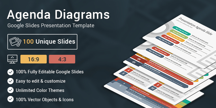 Agenda Diagrams Google Slides Presentation Template