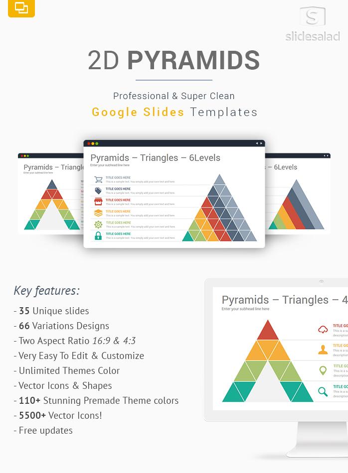 2D Pyramids Google Slides Presentation Template