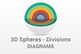 3D Spheres Divisions PowerPoint Template Designs