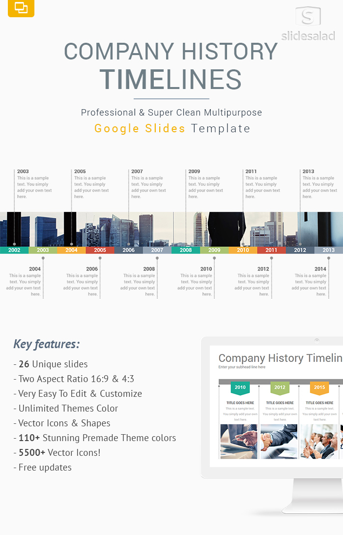 Company History Timelines Diagrams Google Slides Templates