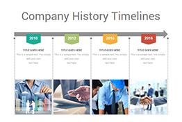 Company History Timelines Diagrams PowerPoint Template
