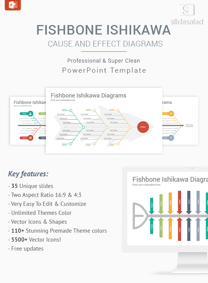 Fishbone Ishikawa Diagrams PowerPoint Template Designs ...