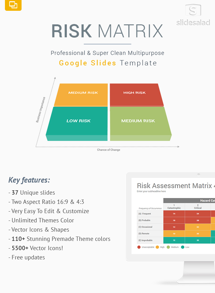 Risk Matrix Diagrams Google Slides Template Designs - SlideSalad