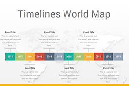 Timelines World Map Diagrams Google Slides Template