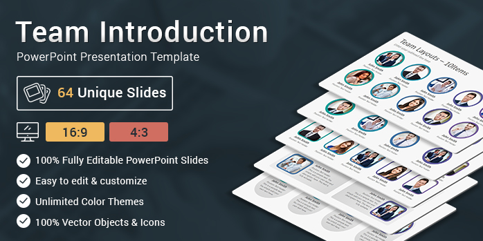Team Introduction Slides Powerpoint Presentation Template
