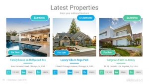 Real Estate Agency PowerPoint Template Designs - SlideSalad