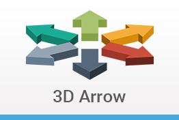 3D Arrow Keynote Template Designs