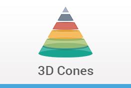 3D Cones keynote Template Designs