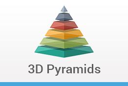 3D Pyramids Keynote Template Designs