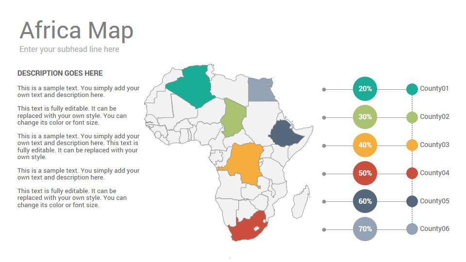 Africa Maps Keynote Template - SlideSalad