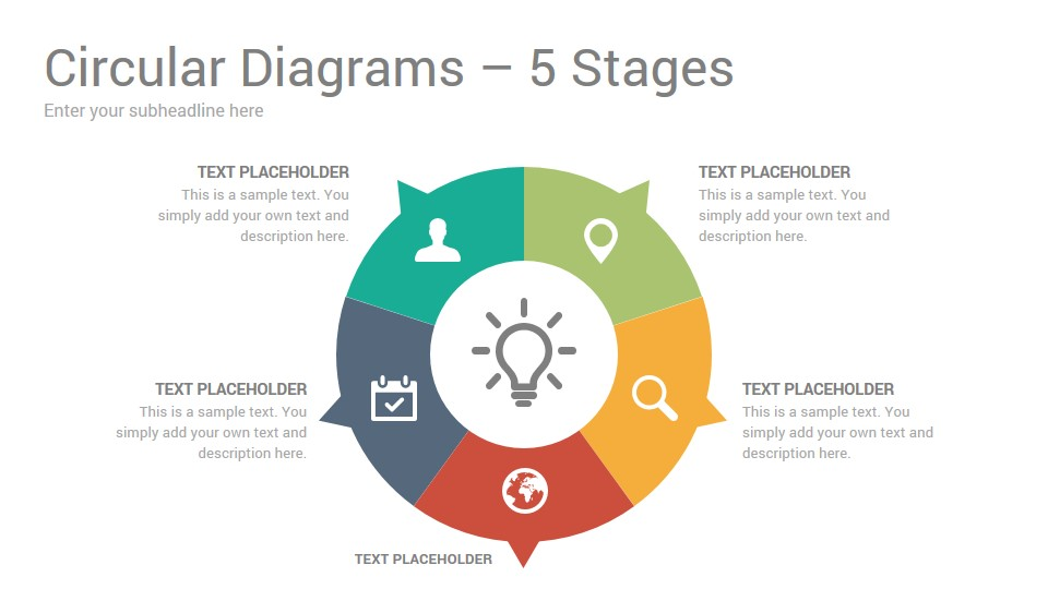 Circular Diagrams Keynote Template Designs