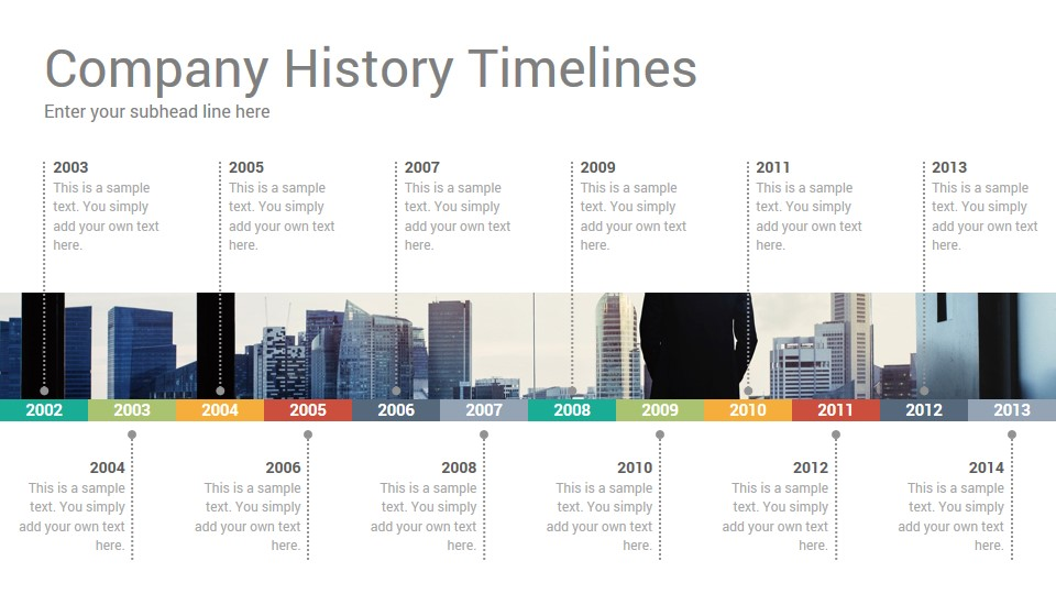 Company History Timelines Keynote Template - SlideSalad