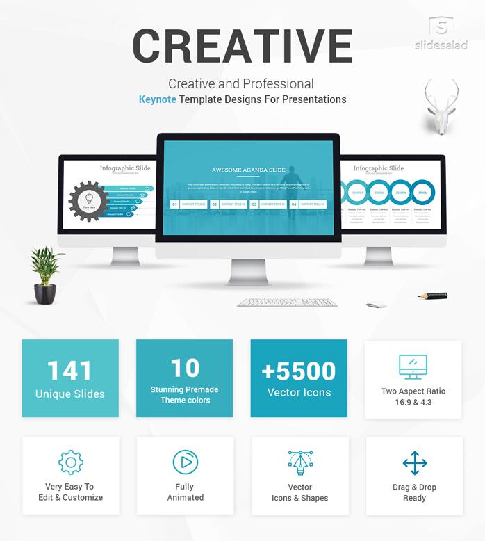 Creative Keynote Presentation Template Slidesalad