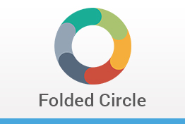 Folded Circle Diagrams Keynote Template Designs