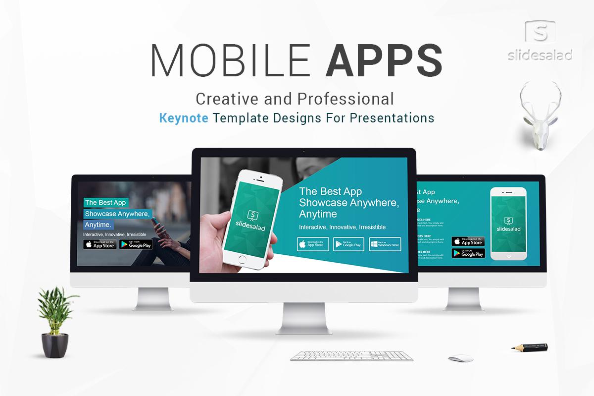 Mobile Application Keynote Template - SlideSalad