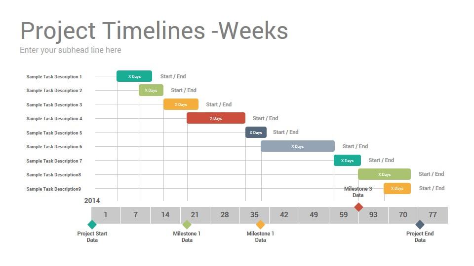 project timelines keynote template slidesalad. Black Bedroom Furniture Sets. Home Design Ideas