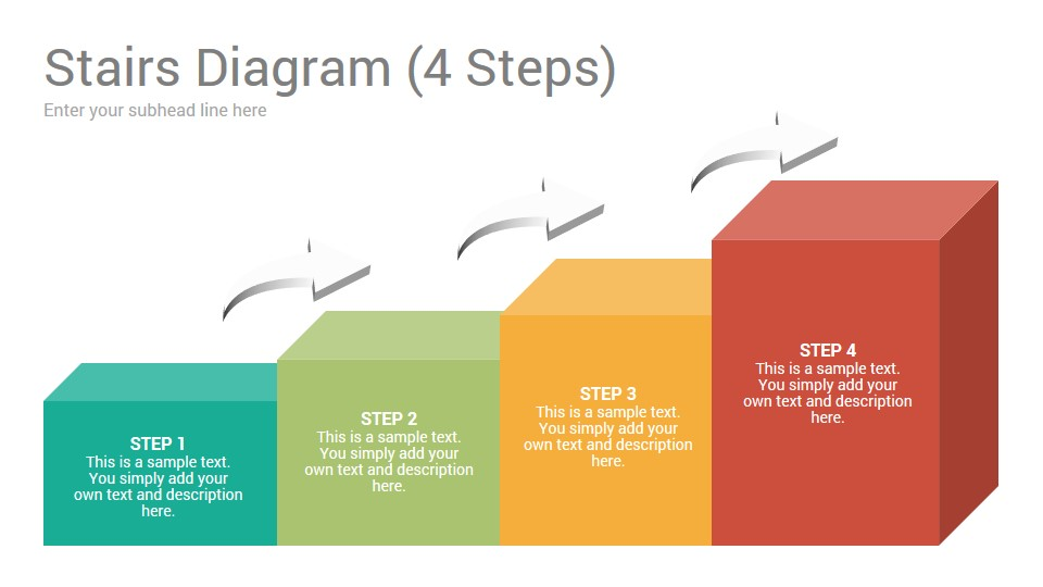 Stairs Diagrams Keynote Template