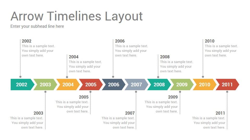 Sample Keynote Timeline | Timelines Diagrams Keynote Template Slidesalad