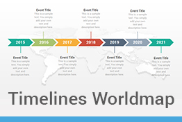 Timelines World Map Diagrams Keynote Template