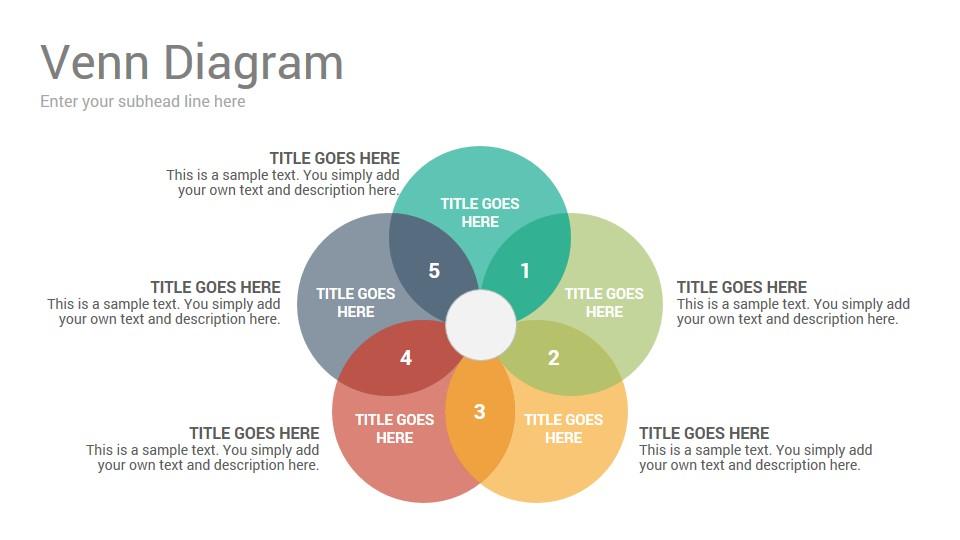 Venn Diagrams Keynote Template - SlideSalad